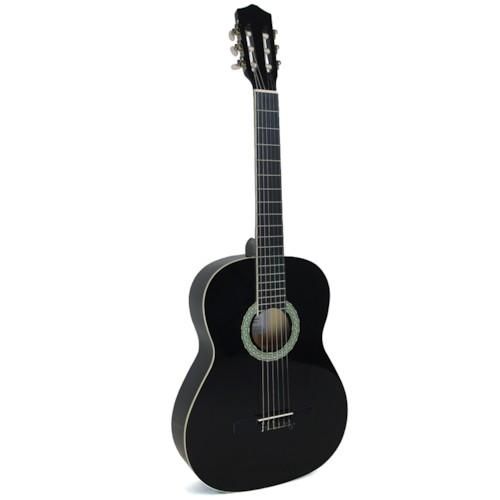 Klassisk Gitarr, 39 tum 4/4 Svart