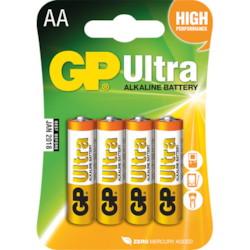 4-pack AA Batteri 1,5 V (LR06)