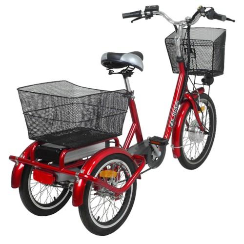 Trehjulig Elcykel Evobike Flex 20-16 tum 2013-2018 VINRÖD - 250W