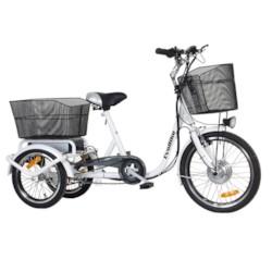 Trehjulig Elcykel Evobike Flex 20-16 tum Vit - 250W