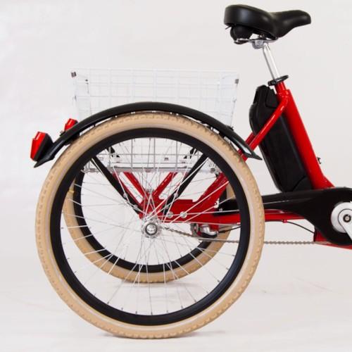 Trehjulig Elcykel Evobike Elegant 24 tum 250W - Röd