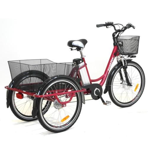 Trehjulig Elcykel EvoBike Grande 26/24 tum 2015-2018 - Svart