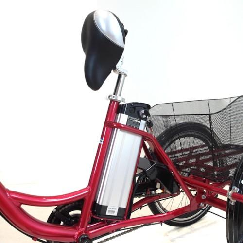 Trehjulig Elcykel EvoBike Grande 26/24 tum 2015-2018 - Röd