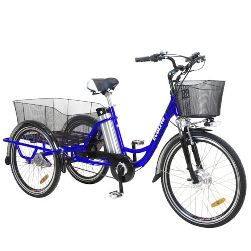 Trehjulig Elcykel EvoBike 250W Aluminium 26/24 tum 2017 - Blå