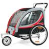 SunBee Promenad med barnvagnskit - Svart/Röd