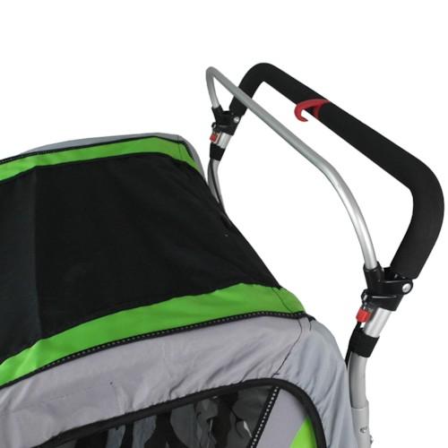 SunBee Promenad med barnvagnskit - Svart/Grön