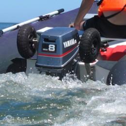 Transporthjul till gummibåt