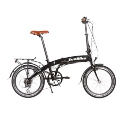 FYNDEX - Elcykel EvoBike Travel, Hopfällbar - Svart