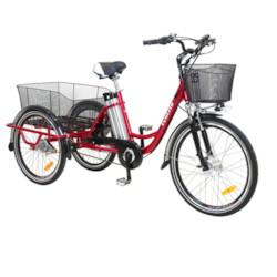 FYNDEX -Trehjulig Elcykel EvoBike Grande 26/24 tum - Röd