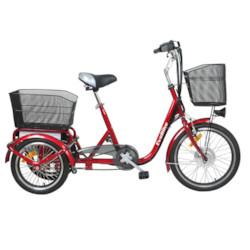 FYNDEX-Trehjulig Elcykel Evobike Flex 20-16tum VINRÖD-250W -