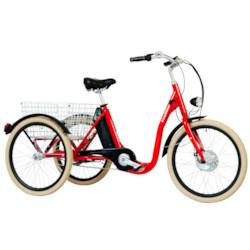FYNDEX - Trehjulig Elcykel Evobike Elegant 24 tum 250W - RÖD