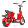 FYNDEX - Elscooter 350 W CHOPPER med lysen - Röd