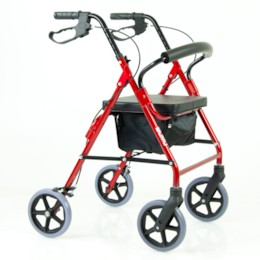 FYNDEX - Rollator Blimo Deluxe V2 VINRÖD - Aluminium
