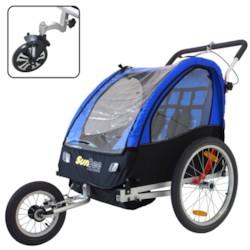 DEMOEX - Cykelvagn SunBee Cruiser Strollerkit - Svart/Blå