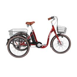 FYNDEX - Trehjulig Elcykel Evobike Elegant 2019 - 24 tum 250W - Röd
