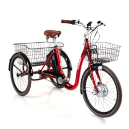 FYNDEXEMPLAR - Trehjulig Elcykel Evobike Elegant 2019 - 24 tum 250W - Röd