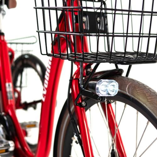 FYNDEX- Trehjulig Elcykel Evobike Elegant 2019 - 24 tum 250W - Röd