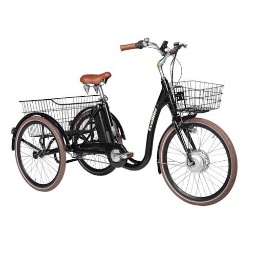 FYNDEX - Trehjulig Elcykel Evobike Elegant 2019 - 24 tum 250W - Svart