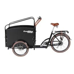 FYNDEX - Elcykel Lådcykel Evobike Cargo PRO -Darkwood