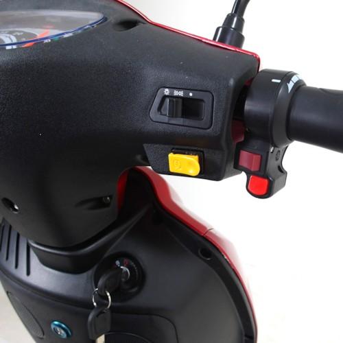 FYNDEX - Blimo Moto - Röd metallic inkl. kryck och käpphållare
