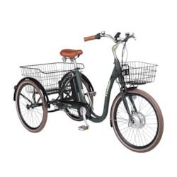FYNDEX - Trehjulig Elcykel Evobike Elegant 2019 - 24 tum 250W  Olivgrön
