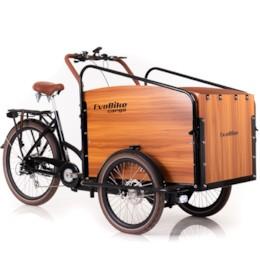 FYNDEX - Elcykel Lådcykel Evobike Cargo PRO - Natural wood