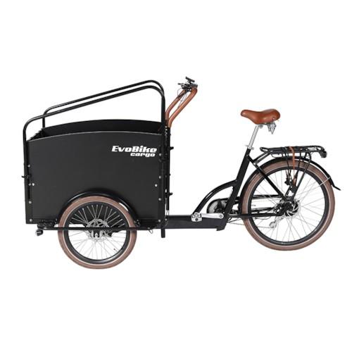 FYNDEX - Elcykel Lådcykel Evobike Cargo PRO - Darkwood