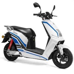 FYNDEX - Elmoped Viverra Evolite E3 1200W - Vit/blå