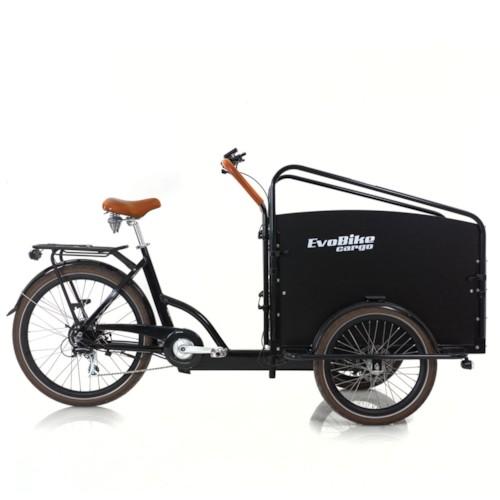 FYNDEX - Elcykel Lådcykel Evobike Cargo PRO Darkwood