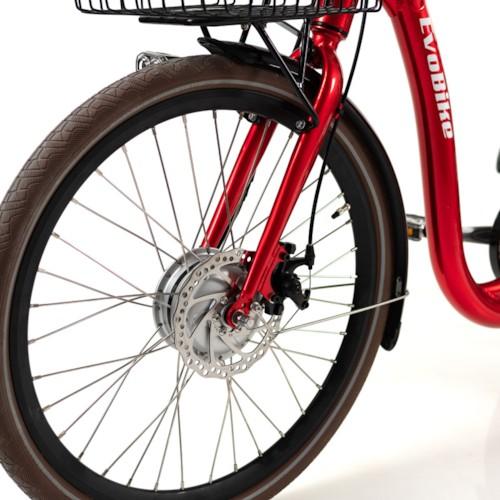 FYNDEX - Trehjulig Elcykel Evobike Elegant - 24 tum 250W - Röd