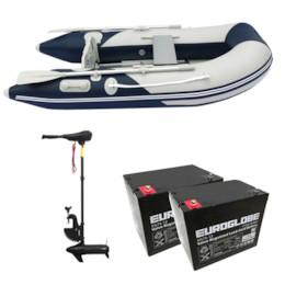 Båtpaket Seabird 230 1,2 mm + Trollingmotor L-86 24V inkl batteri
