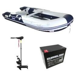Båtpaket Seabird 360 1,2 mm och Trollingmotor L-36 12V inkl batteri