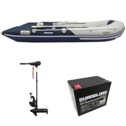 Båtpaket Seabird 430 1,2 mm + Trollingmotor L-36 12V inkl batteri