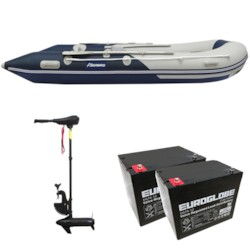 Båtpaket Seabird 430 1,2 mm + Trollingmotor L-86 24V inkl batteri