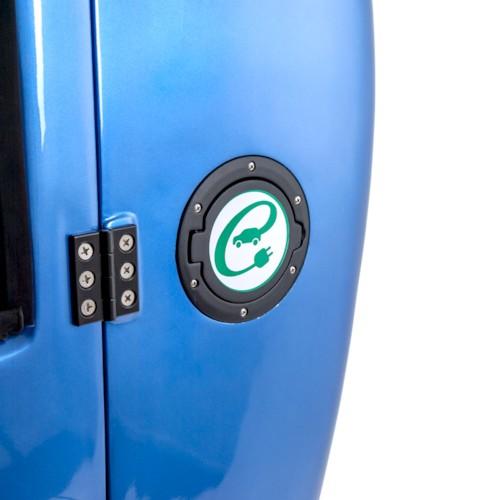 Blimo Kabinscooter Plus - Blåmetallic