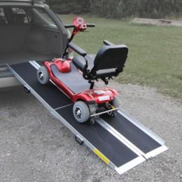 Blimo aluminiumramp för trehjuliga fordon