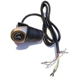 Gasreglage 48V, Vridgas med batteriindikator