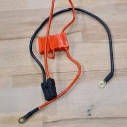 Säkringshållare med kabel, flatstiftsäkring Svart Stiftkontakt / Skruvpoler ATV