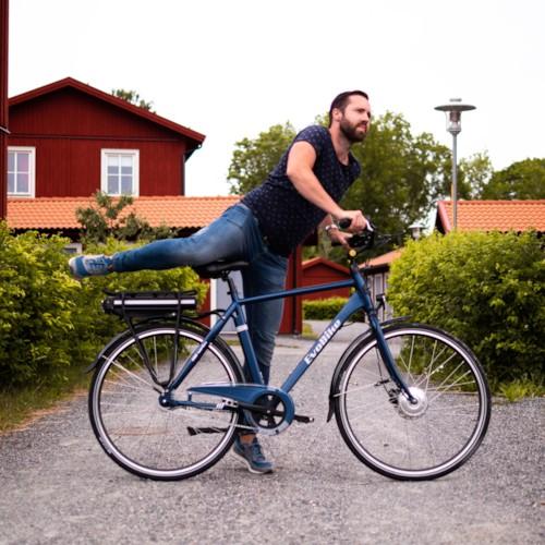 Elcykel EvoBike ECO-3 250W 2020 - Brilliantsvart, herr
