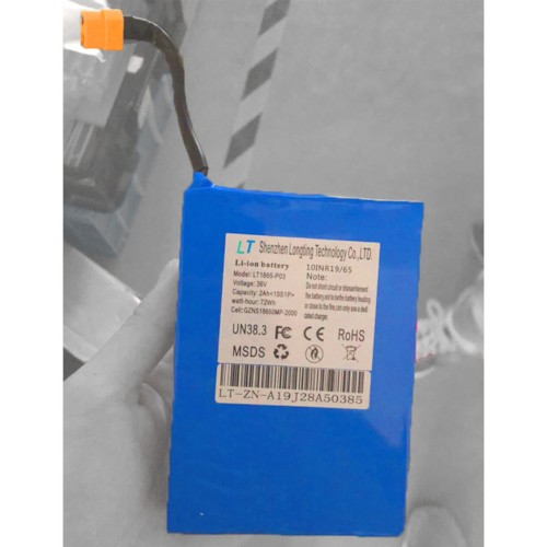 Litiumbatteri Hoverboard Uniboard - 36V 2,0Ah