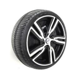 Hjul till elbil volvo XC90-hårdplast inkl klickfäste
