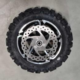 Framhjul med däck och slang, 1000W-2000W, 90/65-6,5 Dirt