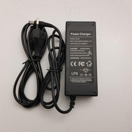 Laddare 24V 2,0A för lithiumbatteri stavkontakt