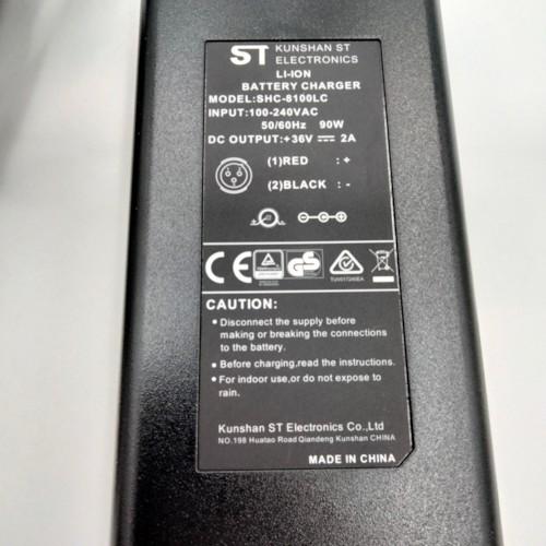 Laddare till Lithiumbatteri 36V - 2A med 5mm kontakt