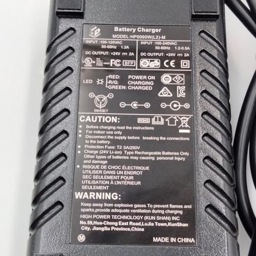 Laddare 24 V till litiumbatteri med XLR kontakt