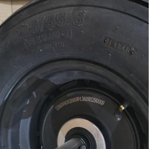 Bakhjul inkl. 2000W motor och däck till Fatbike